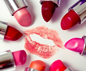 lipstick, kiss, and makeup image