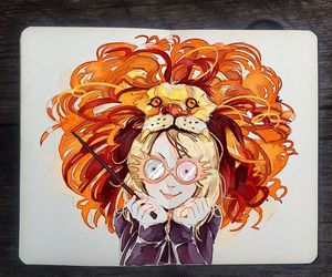 luna lovegood, harry potter, and art image