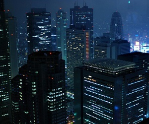 city, blue, and night image