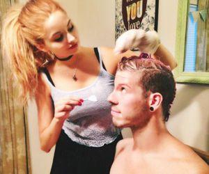 boyfriend, girlfriend, and hair image