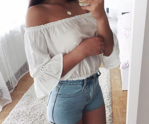 beauty, clothes, and tan image