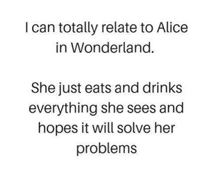 alice, drink, and fairytale image
