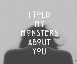 monster, quotes, and ahs image