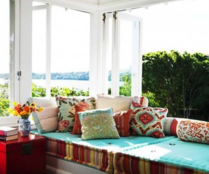 breakfast nook, windows, and inspiration image