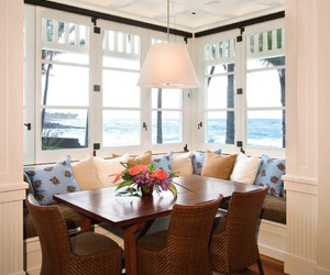 breakfast nook, home, and house image