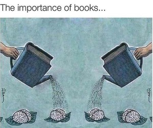 book, brain, and reading image