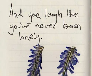 quote, lonely, and laugh image