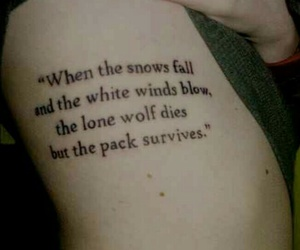 ink, quote, and wolf image