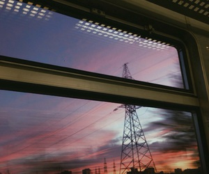 evening, train, and outside image