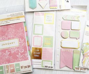 agenda, stationery, and planner image