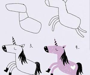 diy, draw, and unicorn image