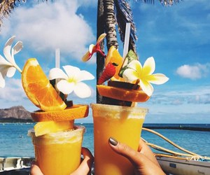drink, fruit, and summer image