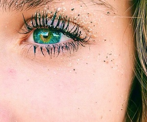 eyes, summer, and beach image