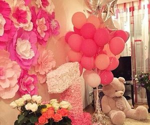 baby, balloons, and birthday image