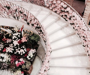 flowers, stairs, and vanille image