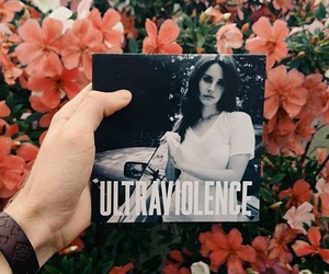 lana del rey, ultraviolence, and flowers image