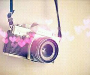 camera, hearts, and photography image