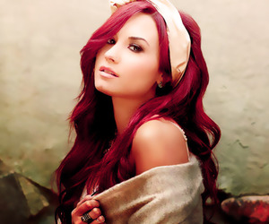 demi lovato, demi, and red image