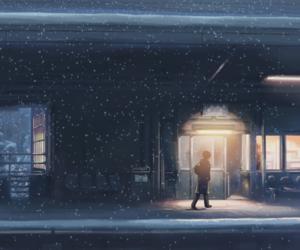anime, snow, and art image