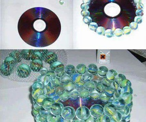 cd, diy, and marbles image