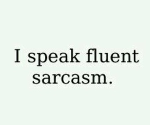 sarcasm, quote, and text image