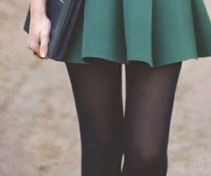 outfit, skirt, and green image