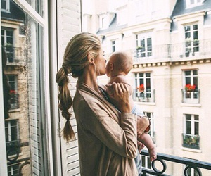 baby, mom, and family image