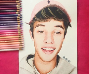 drawing, art, and cameron dallas image