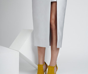 footwear, mustard, and yellow image