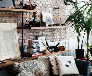black, brick, and room image