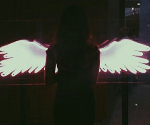 angel, wings, and grunge image