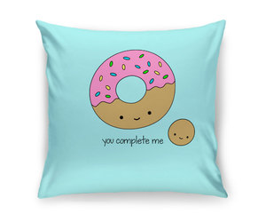 donuts, etsy, and throw pillows image
