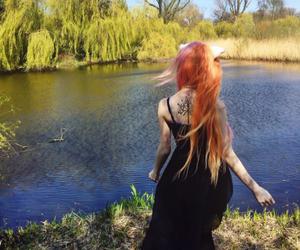 black, dress, and nature image