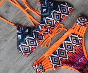 bikini, fashion, and colourful image