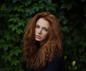 girl, redhead, and nature image