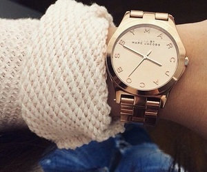 watch, gold, and style image