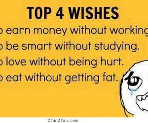 wish, funny, and eat image