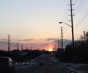sunset, sky, and indie image