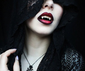 vampire, black, and dark image
