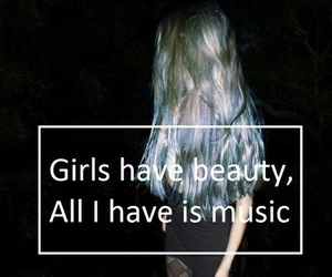 music, girl, and quotes image