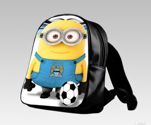kids, minion, and schoolbag image