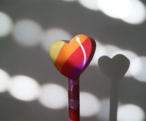 blinds, heart, and rubber image