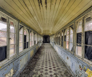 abandoned, hallway, and old image