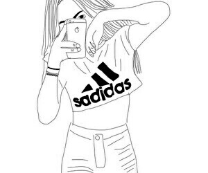 adidas, outline, and tumblr image