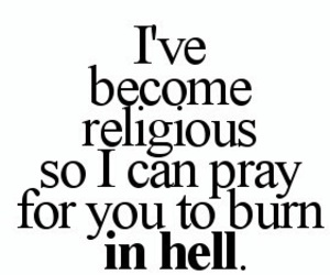 quote, hell, and burn image