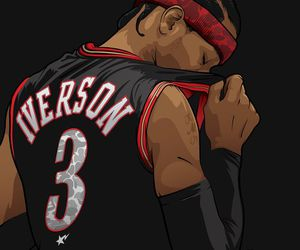 allen iverson and NBA image