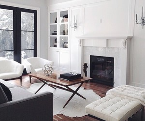home, white, and house image