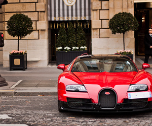 bugatti veyron, red, and car image
