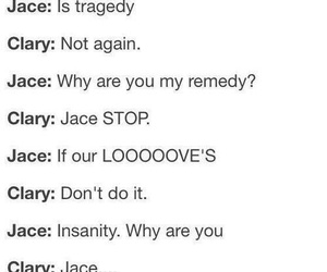 jace, clary, and shadowhunter image