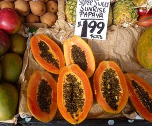 FRUiTS, orange, and papaya image